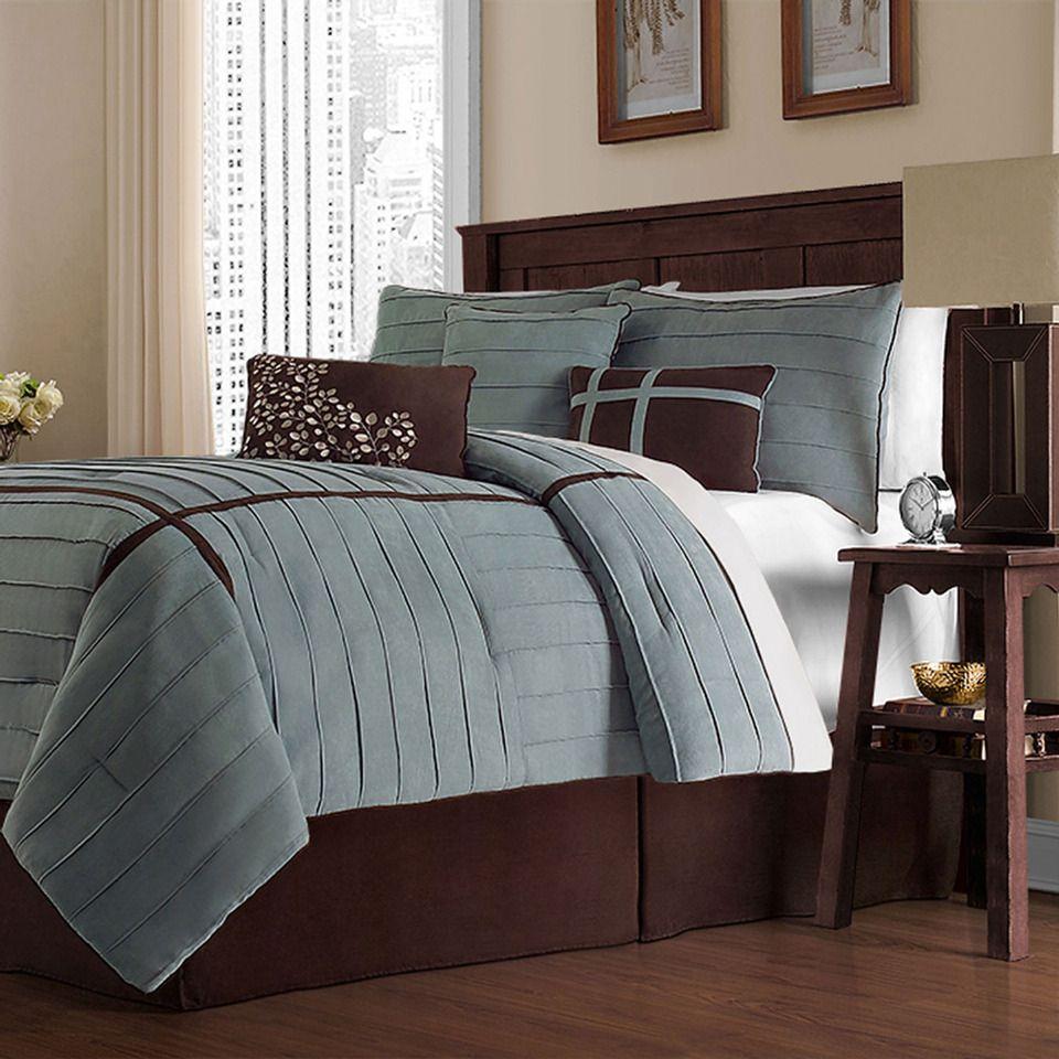 Le Bleu Que Je Recherchais Comfortable Bedroom Brown Bed