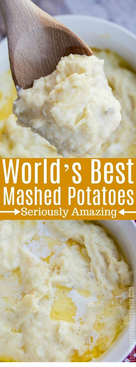 World's Best Mashed Potatoes  #thanksgivingrecipes