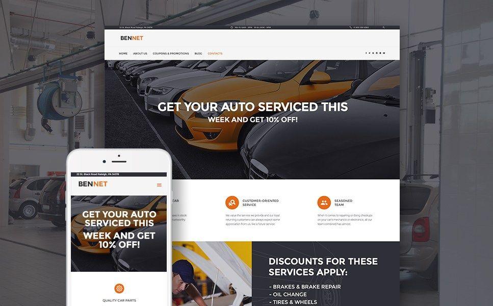 Car Mechanic and Auto Body Shop WordPress Themes