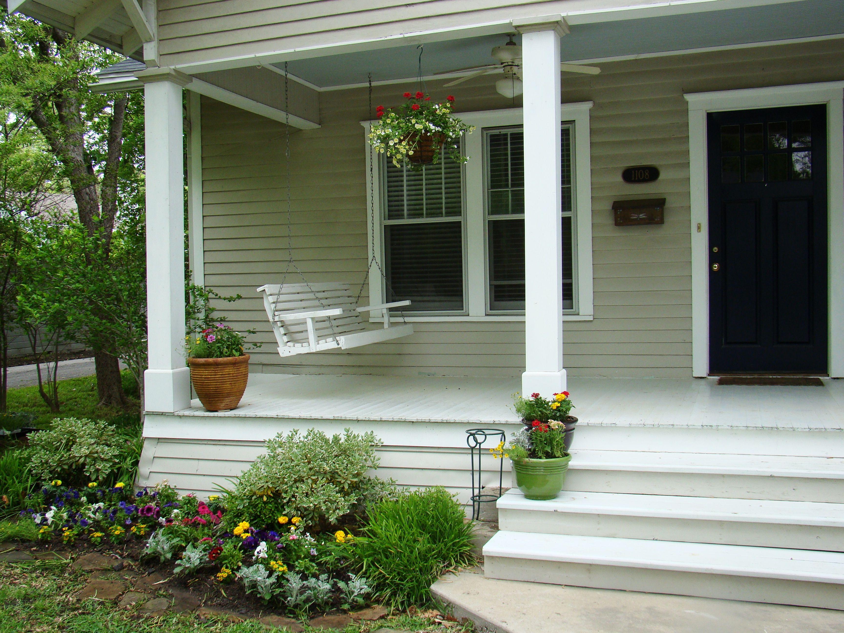 Front porch designs for houses - Front Porch Minimalist Front Porch Design With Beautiful Red Color Scheme Home Decoration Design