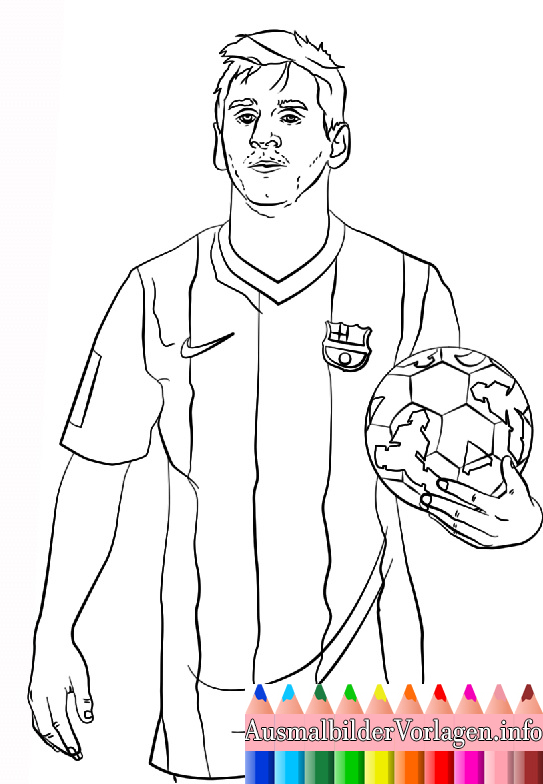 Ausmalbilder Fussballspieler Messi Messi Soccer Lionel Messi Messi