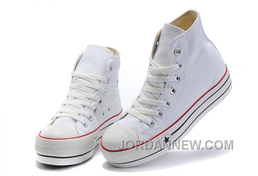 213711d3272 Shop White Classic Platforms CONVERSE All Star Canvas Women Shoes Discount  black