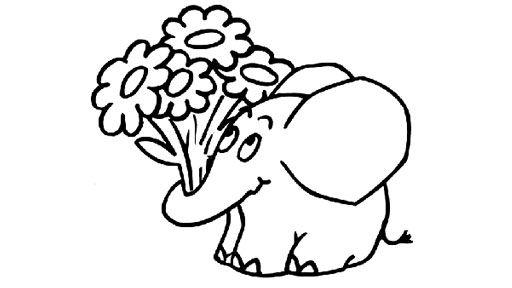 Elefant mit Blumen 736 Malvorlage Alle Ausmalbilder Kostenlos ...