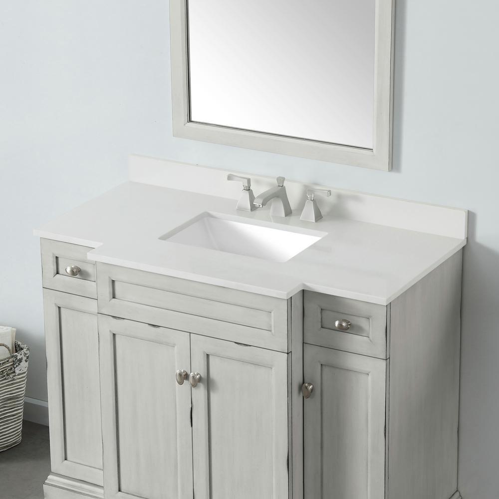 Home Decorators Collection Teagen 42 In W Bath Vanity In Vintage