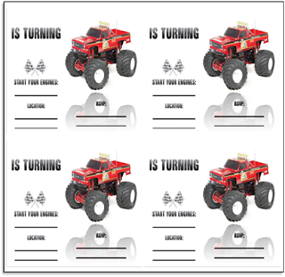 HalfaHundred Acre Wood Monster Truck Party Free Printables