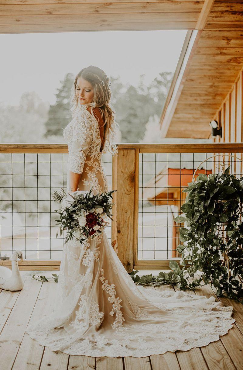 Casablanca Custom Wedding Dress Style 2324 Zola Long Lace