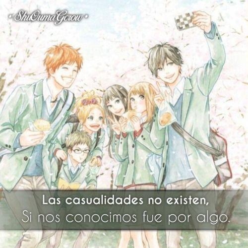 anime frases anime frase sentimientos shuoumagcrow orange mundo