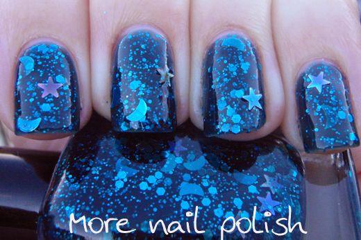 """Nail polish franken - """"My moon and stars"""""""