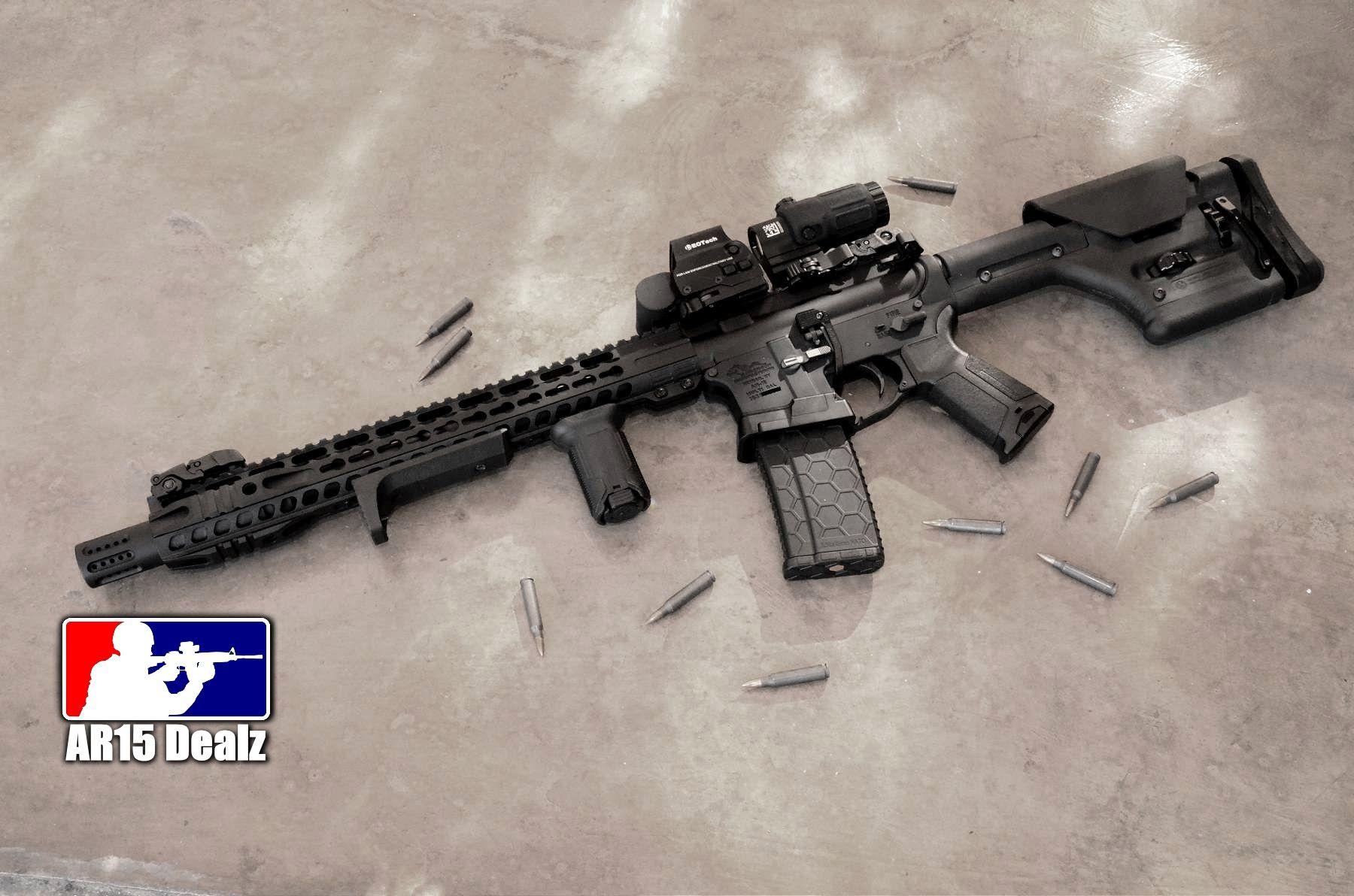 Custom AR15 Rifle Fully Decked Out AR-15 223 556 : Semi ...