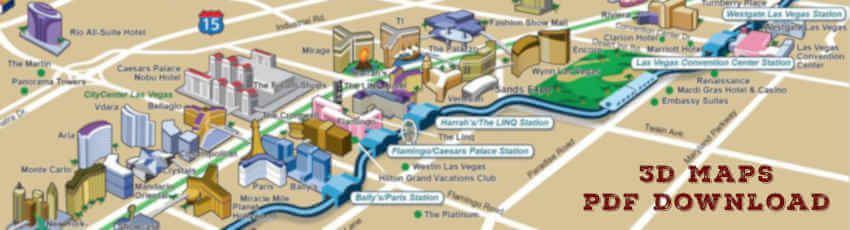 3d maps las vegas strip