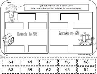 Worksheets Cut And Paste Worksheets For 2nd Grade free pirate cut and paste rounding worksheet math ideas worksheets2nd grade