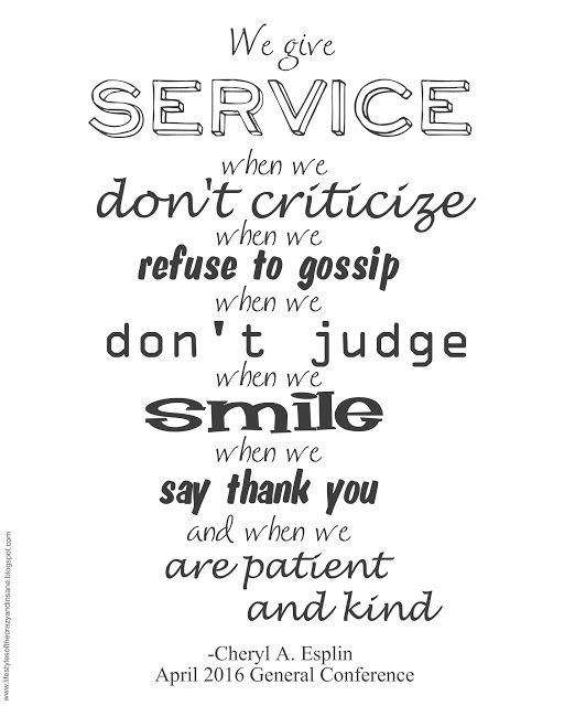 Service With A Smile With Images Church Quotes Lds Quotes