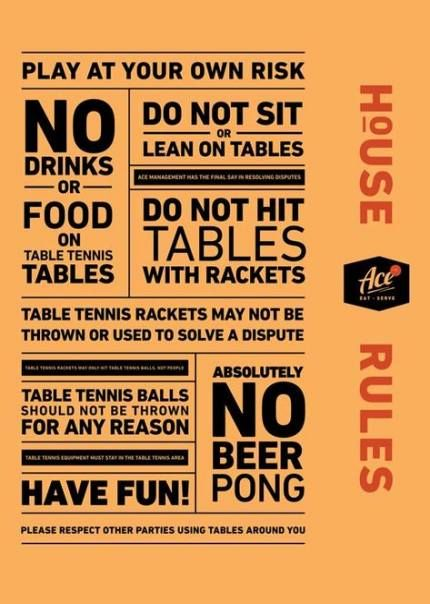 Table Tennis Room Design: House Party Rules Poster 52 Ideas #house #party