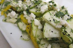 Kabak, Elma ve lor peynirli salata...muss ich probieren :)
