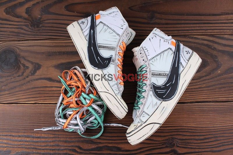 8a670d9d49d Custom Hand Painted Off White x Nike Blazer Mid 10X | kicks vogue in ...