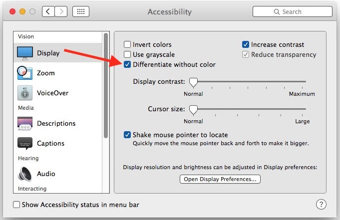 The Mac Differentiate Without Color Accessibility Setting Explained Differentiation Explained Fun Facts