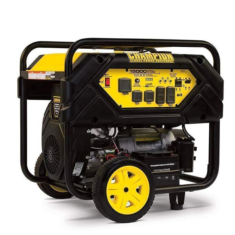 Flash Sale Only 138 Free Shipping Champion 12 000 Watt Portable Generator With Electric Sta Portable Generator Gas Powered Generator Generators For Sale