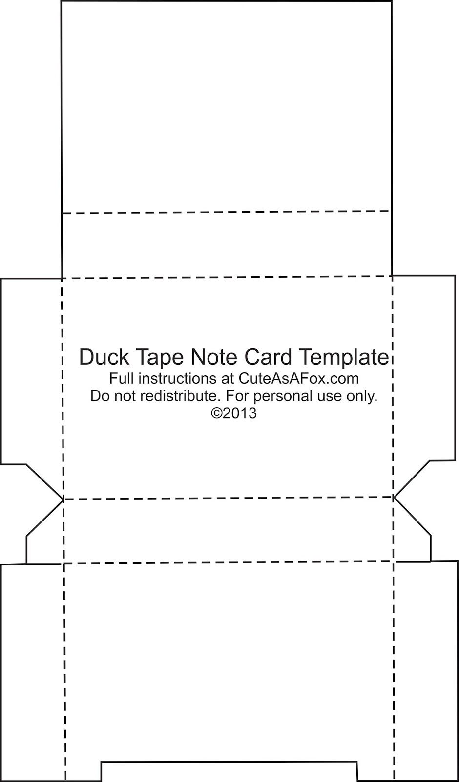 Duck Tape Flash Card Holder Note Card Template Printable Note