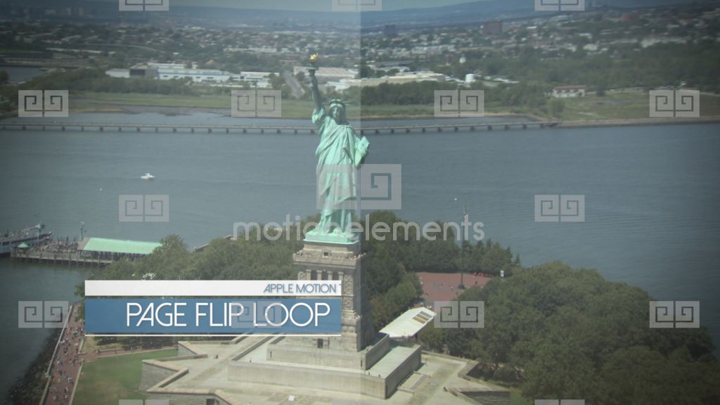 page flip display loop apple motion and final cut pro x template