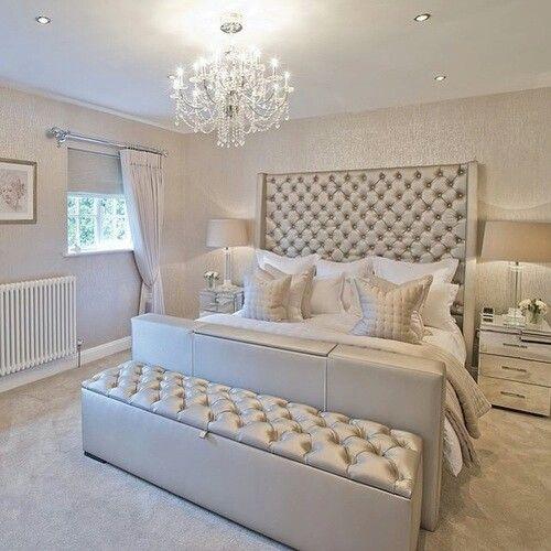 Pin By Abby Wilson On B E D R O O M S Luxurious Bedrooms Silver Bedroom Bedroom Interior