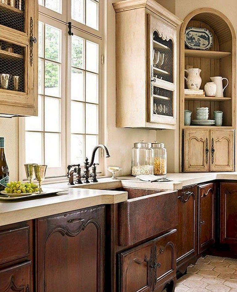58+ Beautiful French Country Style Kitchen Decor Ideas Kitchen