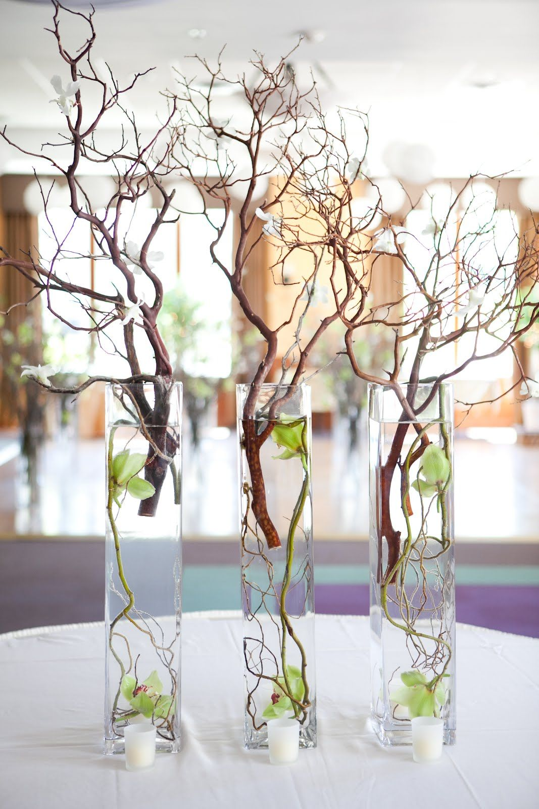 Tall Curly Willow Centerpiece Hanging Lights Google Search Table Setting Decor Curly Willow Centerpieces Beautiful Table Settings