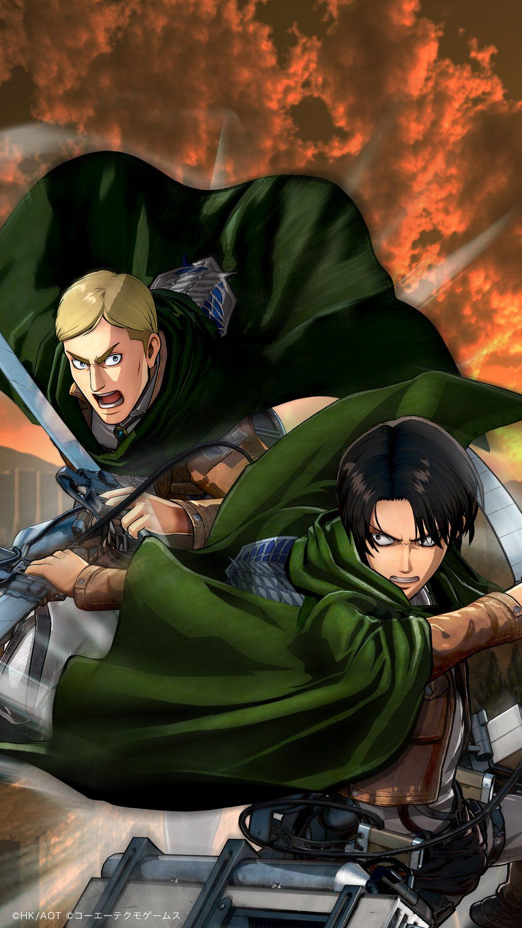Erwin Smith Tumblr Attack On Titan Anime Attack On Titan Levi Levi And Erwin