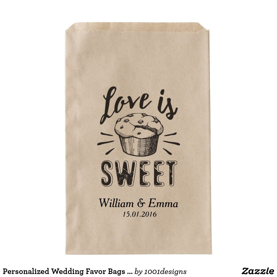 Personalized Wedding Favor Bags Love Is Sweet | Wedding Favor Bags ...