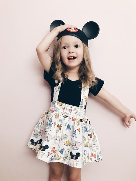 Disney Doodle Suspender Skirt The Twisted Knot