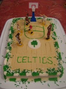 Made This Boston Celtics Basketball Court Cake For My Son On His Birthday A Few Years Back