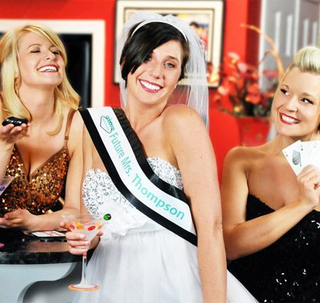 The Ante Up Bachelorette Sash & Veil Set is perfect for the bride who likes to take a gamble!