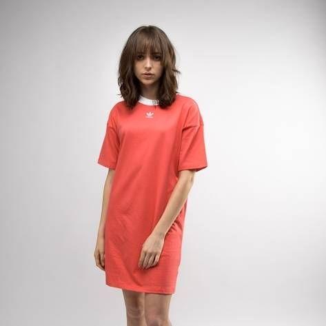 ce5092288ef Womens adidas Trefoil Ringer Dress - pink - 43493 | Summer | Adidas ...