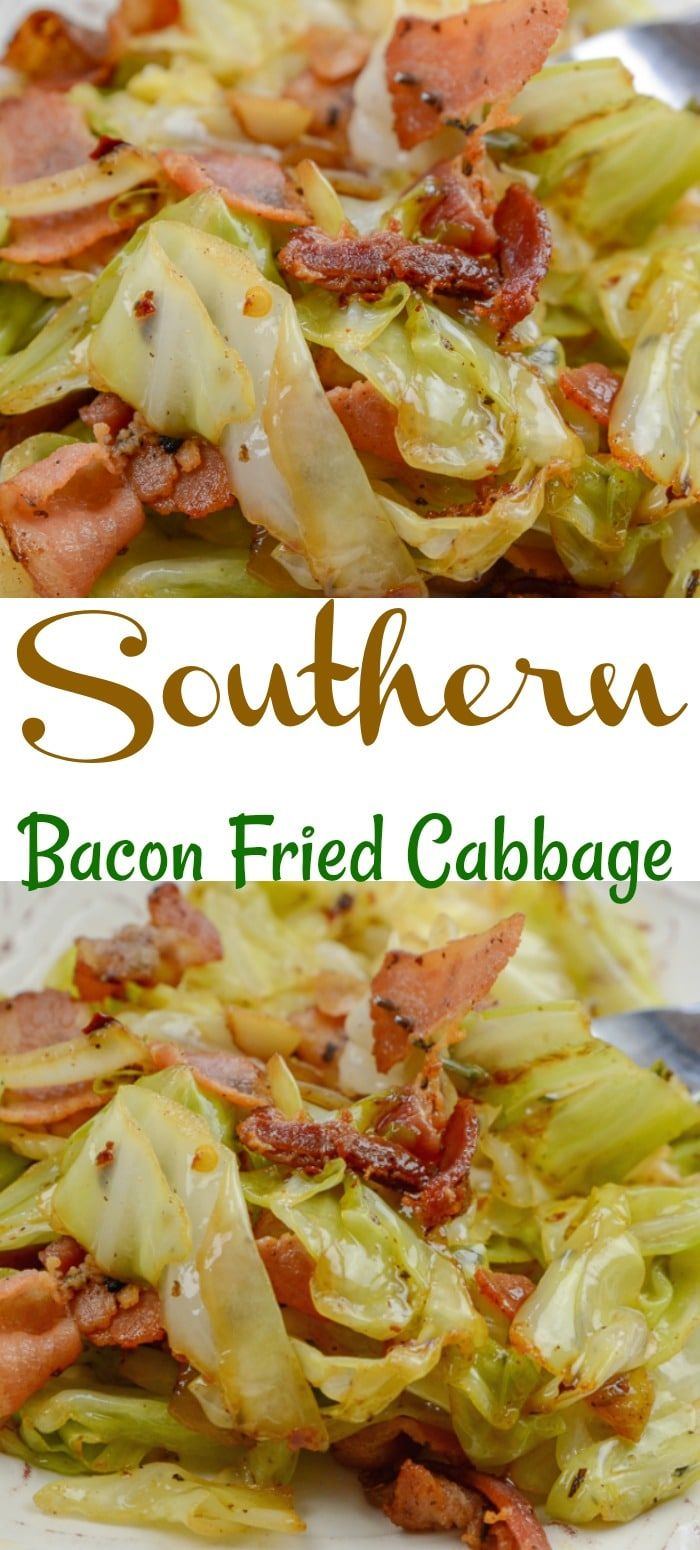 Southern Fried Cabbage and Bacon Southern Fried Cabbage and Bacon