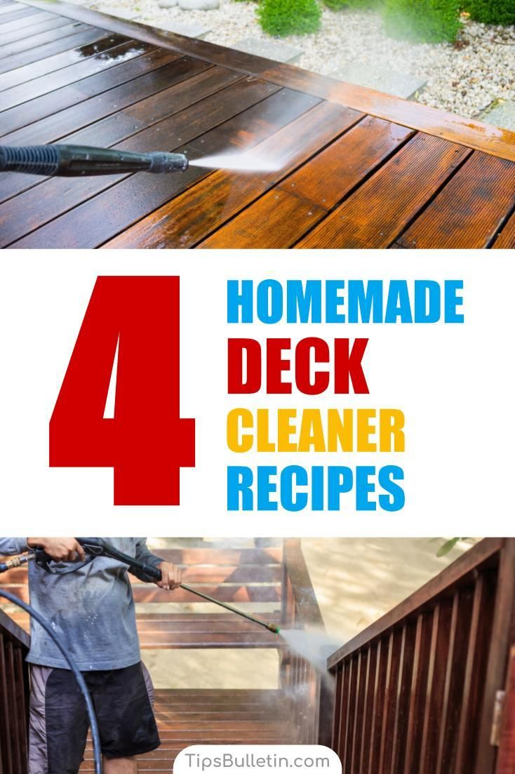 4 amazing homemade deck cleaner recipes deck cleaner