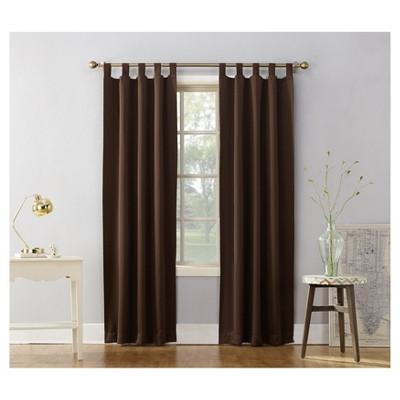 40 X63 Kenneth Blackout Tab Top Curtain Panel Chocolate Sun Zero Cool Curtains