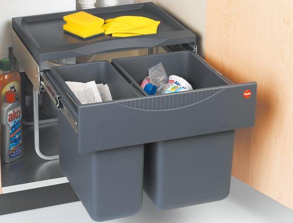 Hailo Tandem S Undersink Waste Bin Rubbish Kitchen Accessories