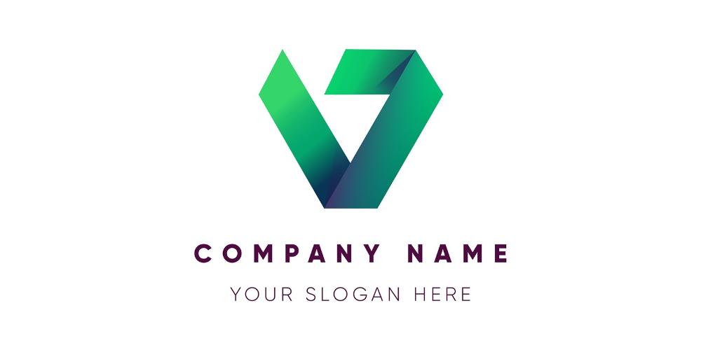 Modern Letter V Logo Design by SaqibAnxari in 2020 V
