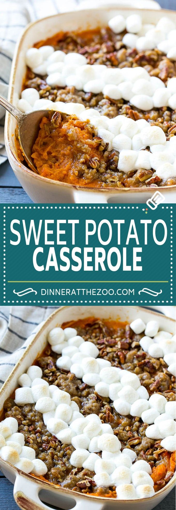 Sweet Potato Casserole #sweetpotatocasserolewithmarshmallows