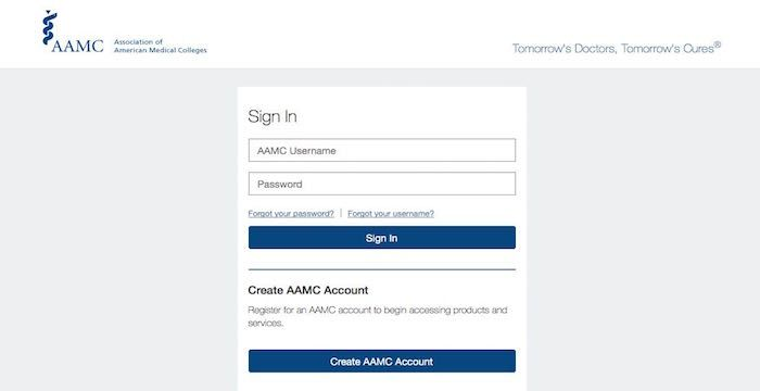 Aamc Login Apps Aamc Org Application Account Medical College