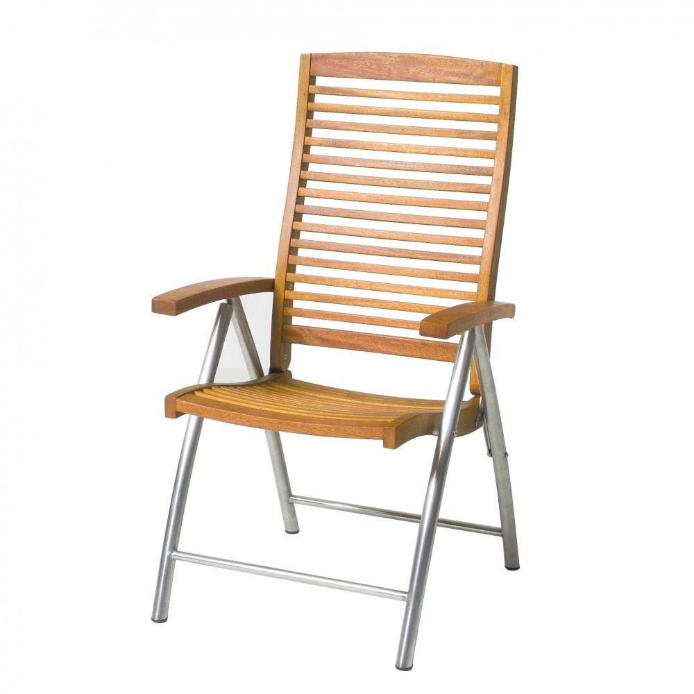 Gartenstühle hochlehner  Hochlehner Eukalyptus FSC / Edelstahl B/H/T 62x112x65 cm ...
