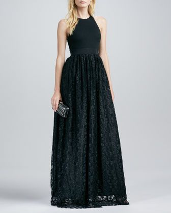 Sleeveless Gown with Lace Skirt by Milly at Neiman Marcus. | prom ...