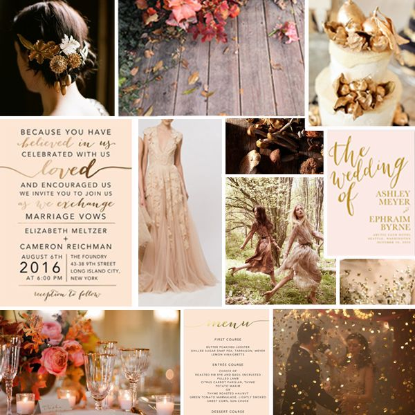 Love The Invitation Romantic Rose Gold Wedding Inspiration