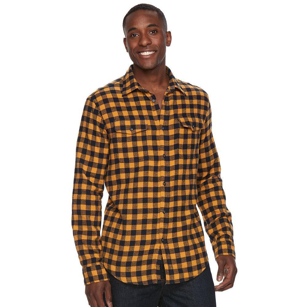 Flannel shirt season  Menus SONOMA Goods for Lifeâue Plaid Flannel ButtonDown Shirt Size