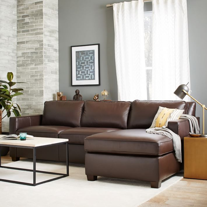 Our popular upholstered Henry Sectional also comes in rich top- : henry sectional - Sectionals, Sofas & Couches