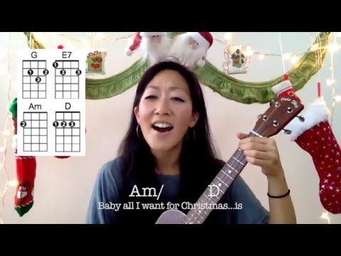 All I Want For Christmas Is You Ukulele Play Along With Chords And Lyrics Youtube Ukulele Lesson Ukulele Songs Ukulele Videos