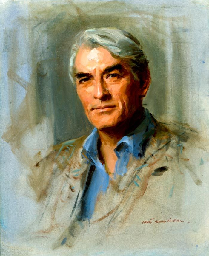 Gregory Peck by Everett Raymond Kinstler