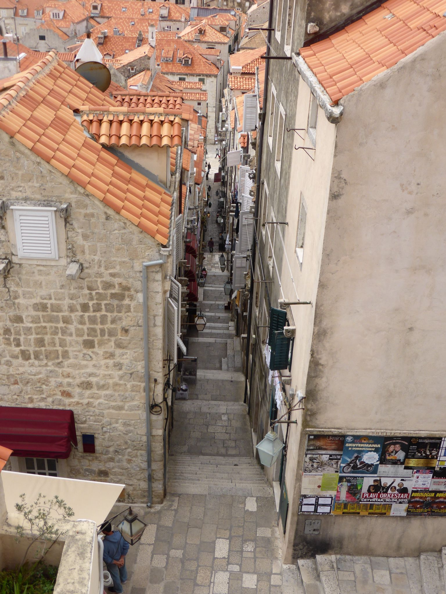 Lane way in Dubrovnik, Croatia