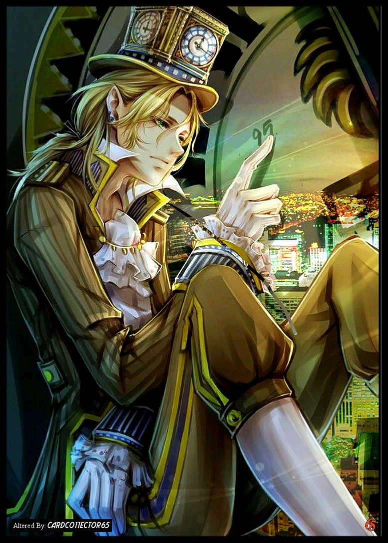 Anime Mr Time Mtg Sleeves Steampunk Characters Anime Guys