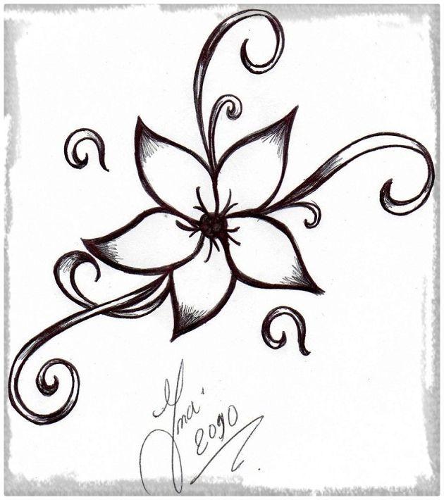 Resultado de imagen para imagenes a lapiz de flores para dibujar ...