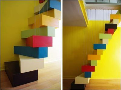 Best A Japanese Staircase Brighten Up A Parisian Duplex 640 x 480